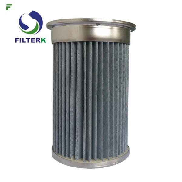 Quality Piab Pleated Cartridge Filter Element For Vacuum Conveyors Polyester PTFE Material for sale