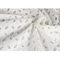 China Heavy Vintage Eyelet 100% Cotton Lace Fabric Wholesale By The Yard wholesale