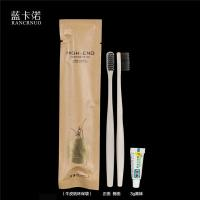 China RANCRNUO OOC-TB brown paper bag packing disposable hotel toothbrush set wholesale
