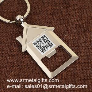 China House shaped metal bottle opener key holder, house shape beer opener key holders on sale