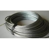 China Rusting Resist Galvanized Steel Wire Rope For Lifting , Towing 7 X 19 wholesale