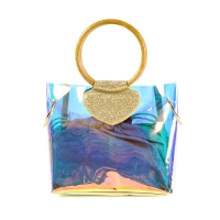 China Large Capacity Holographic PVC Tote Handbags For Women wholesale