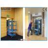 China 1 plataforma de trabalho aéreo 136kg de Worrking da pessoa avaliou a carga com dispositivo de carregamento fácil wholesale
