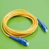 China 単一モードの繊維光学パッチ ケーブル、SC繊維パッチ ケーブルの高い処分密度へのSC wholesale