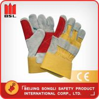 China SLG-HD6020-E cow split leather working safety gloves wholesale