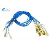 China Quick Disconnect Female 18 AWG Wire , Tin Silver Plated Tab 6.35 X 0.81mm Terminal Cable on sale