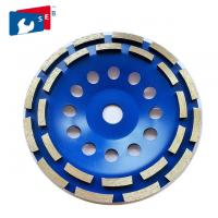 China 125mm Diamond Grinding Wheel with Double Row for Concrete Marble Floor on sale