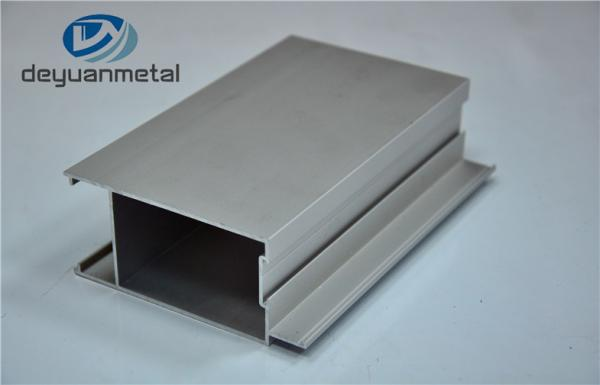 Quality Standard Silver Anodizing Aluminum Extrusion Profile For Doors 6063/T5 for sale