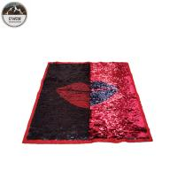 China Fashion Lip Reverse Sequin Patch / Iron On Patches 40*40CM Size Red / Black Color wholesale