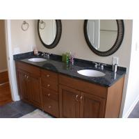 China Black Color Natural Marble Vanity Countertops With Single Sink wholesale