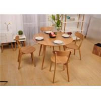 China Modern Round Dining Table And Chairs , Hardwood Dining Room Furniture Sets wholesale