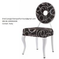 China Black with sliver print Metal Dining Chairs wholesale
