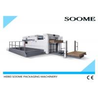 China High Accurately Die Cutting Creasing Machine With Front Conveyor Delivery Mechanism on sale
