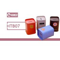 China Cylinder Personalized Tin Containers , Square Tin Cans With Lids Money Saving wholesale
