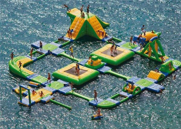 Quality New Design Giant Beach Inflatable Water Parks Lake Floating Water Games for sale