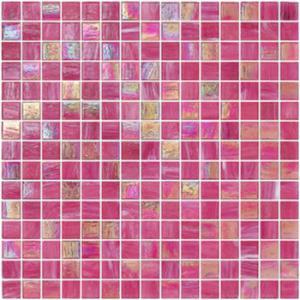 China Elegent pica color con la línea pedazo de cristal del oro del modelo 20x20m m de la mezcla del mosaico wholesale