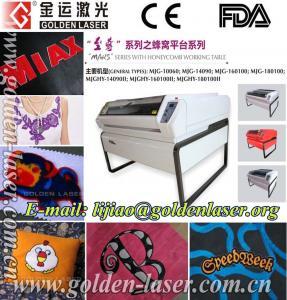 China Fabric Logo Laser Cutting Machine Price on sale
