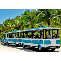 China 72 Seat Tourist Train Rides For Adults / Trackless Toy Train 380V FRP Protective Door wholesale