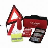 China Automotive Roadside Emergency Tool Kit, Includes Triangle and Fire Extinguisher wholesale