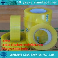 China luda suppier high quality transparent bopp packing adhesive tape roll wholesale