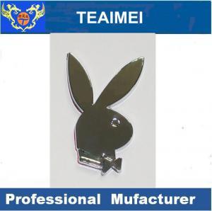 China Rabbit Playboy ABS Logo Custom Car Emblems And Badges With Strong Adhesive wholesale
