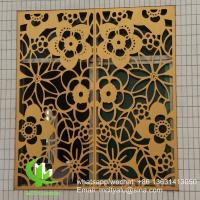 China Window screen Metal aluminum perforated panel laser cutting screen panel for window screen window cover wholesale
