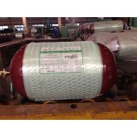 China High Pressure CNG Gas Tank 20Mpa , Glass Fiber Gas Cylinder Bottled Natural Gas OD 340MM on sale