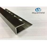 China Polishing Champagne Round Edge Aluminium Trim Strip With Logo Punched SGS on sale