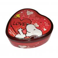 China Iron Heart Shaped Tin Box Storage Card Case Steel Electro Coated For Decoration on sale