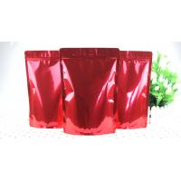 China Red Aluminum Foil Bags High Barrier Dried Fruits Foil Zipper Bags wholesale