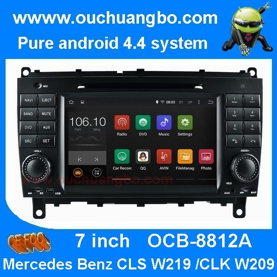 Quality Ouchuangbo Mercedes Benz w209 w219 audio DVD gps stereo android 4.4 supoort cabus MP3 for sale