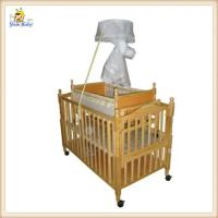 China Nature Wooden Baby Boy Crib Bedding Sets / Small Automatic Swing Cot on sale