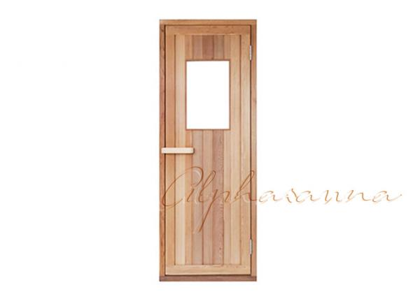 Quality Solid Core Western Red Cedar Sauna Glass Door with Wooden Frame for Dry sauna room for sale