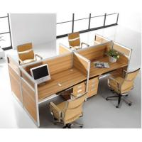 China Full High Office Furniture Partitions / L & T Shaped Office Workstation Table on sale