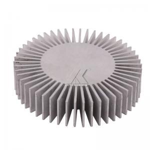 China sunflower shape aluminum profile anodized clear finished aluminum heat sink 6063-T5 radiator for LED wholesale