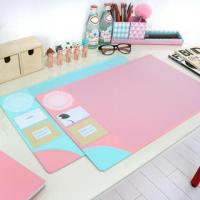China Monogrammed Colorful Desk Protector Pad Custom Printed Table Mat wholesale