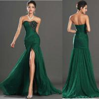 China Newest Mermaid Sweetheart with Beads Vintage Sexy Prom Dress 2014 Free Shipping on sale
