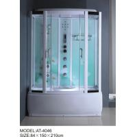 China 84 X 150 X 210 / cm square shower cabin , film back panel one wall shower enclosures wholesale