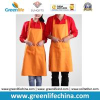 China Cooking cotton polyester kitchen girl household women aprons made in China can print logo wholesale