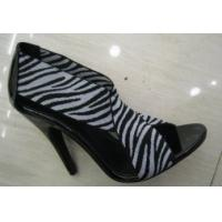 China Ladies Zebra-Stripe High Heel Summer Leather Shoes With Special Design wholesale