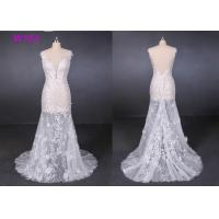 China Transparent Tulle Lace Application Wedding Dresses Customized Factory Made on sale