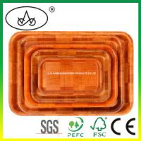 China China Bamboo & Wooden Food Serving Tray for Kitchen, Cutlery, Fruit, Tea on sale