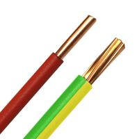 China 1.5mm2 2.5mm2 4mm2 Copper Conductor PVC Insulated Cable , H07V-U H07v R Cable 450/750V on sale