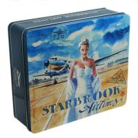 China Customized Embossing Rectangular Tin Box For Packaging wholesale