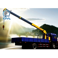 China Lifting 3200KG Hydraulic Truck Mounted Cranes / Service Truck Crane Truck-mounted crane with telescopic boom wholesale