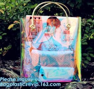 China Neon Laser Shopping Bag Tote Bag, PVC bag/handbag for shopping/traveling bag, fashion purses and ladies handbag, PURSE wholesale