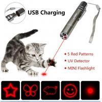 China 7 in 1 Multi Pattern Funny Chaser Toy with Lazer Dot UV Light LED Flashlight Laser Pointer Cat Toy on sale