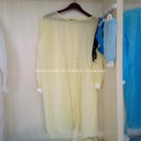 China Ly Nonwoven Isolation Gown with Knitted Cuffs wholesale