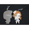 China Cartoon figures shape pendants custom soft pvc rubber phone pendants supply wholesale