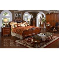 China Luxury Antique Bedroom Wooden Furniture Set bedroom sets bedroom furniture sets wholesale